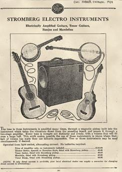 первая коммерческая электрогитара Stromberg-Voisinet