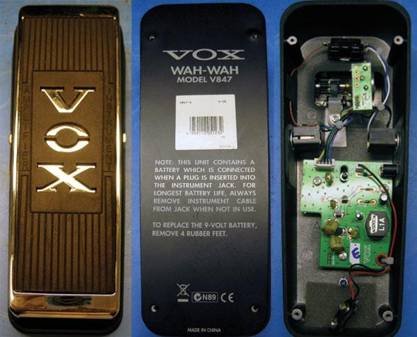Модификация педали Vox V847